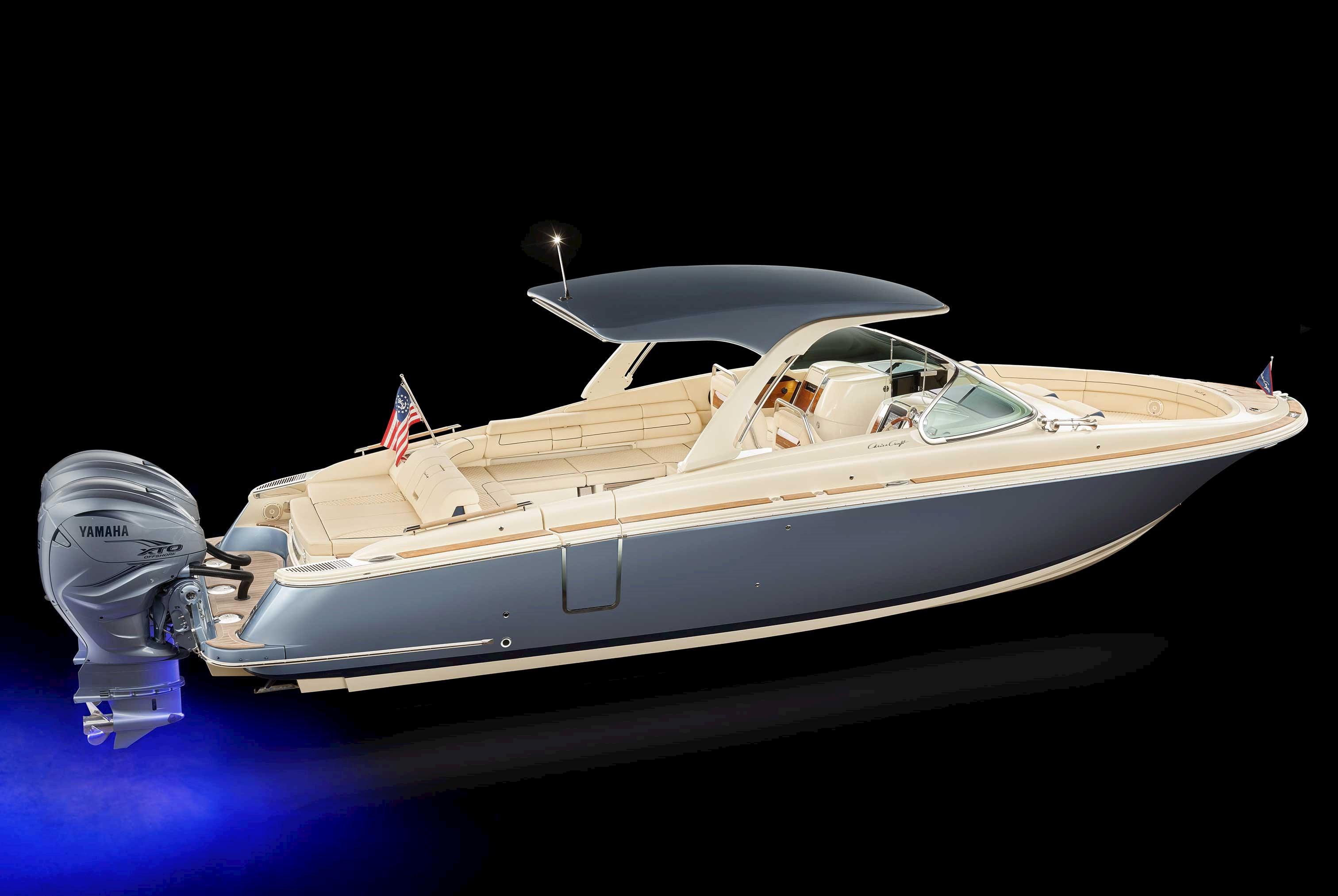 launch 35 gt, ski boat, open bow boat, bowrider boat